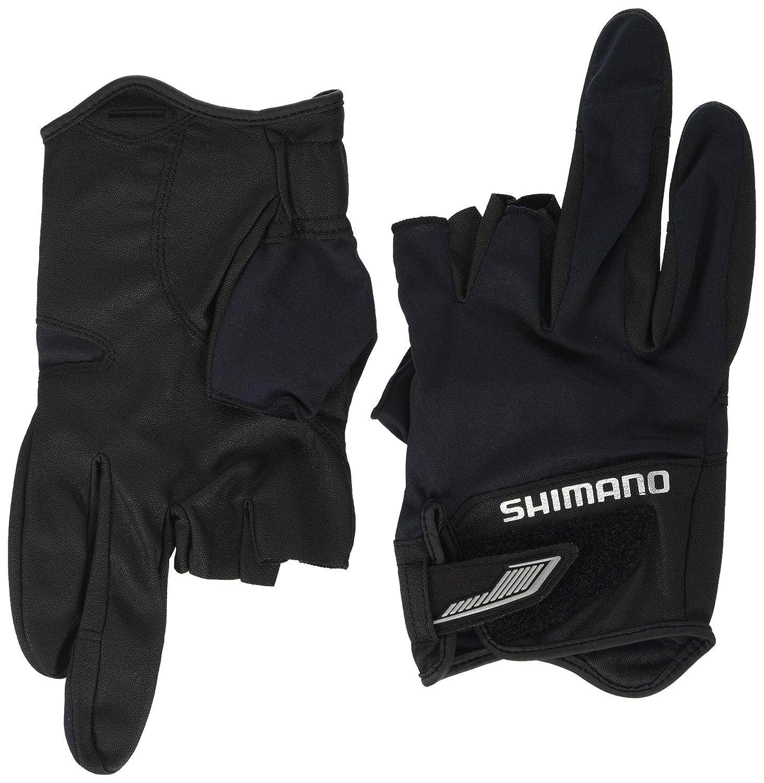 SHIMANO 3D Advance Fishing Glove 5 GL-022S BLACK UV cut Japan NEW