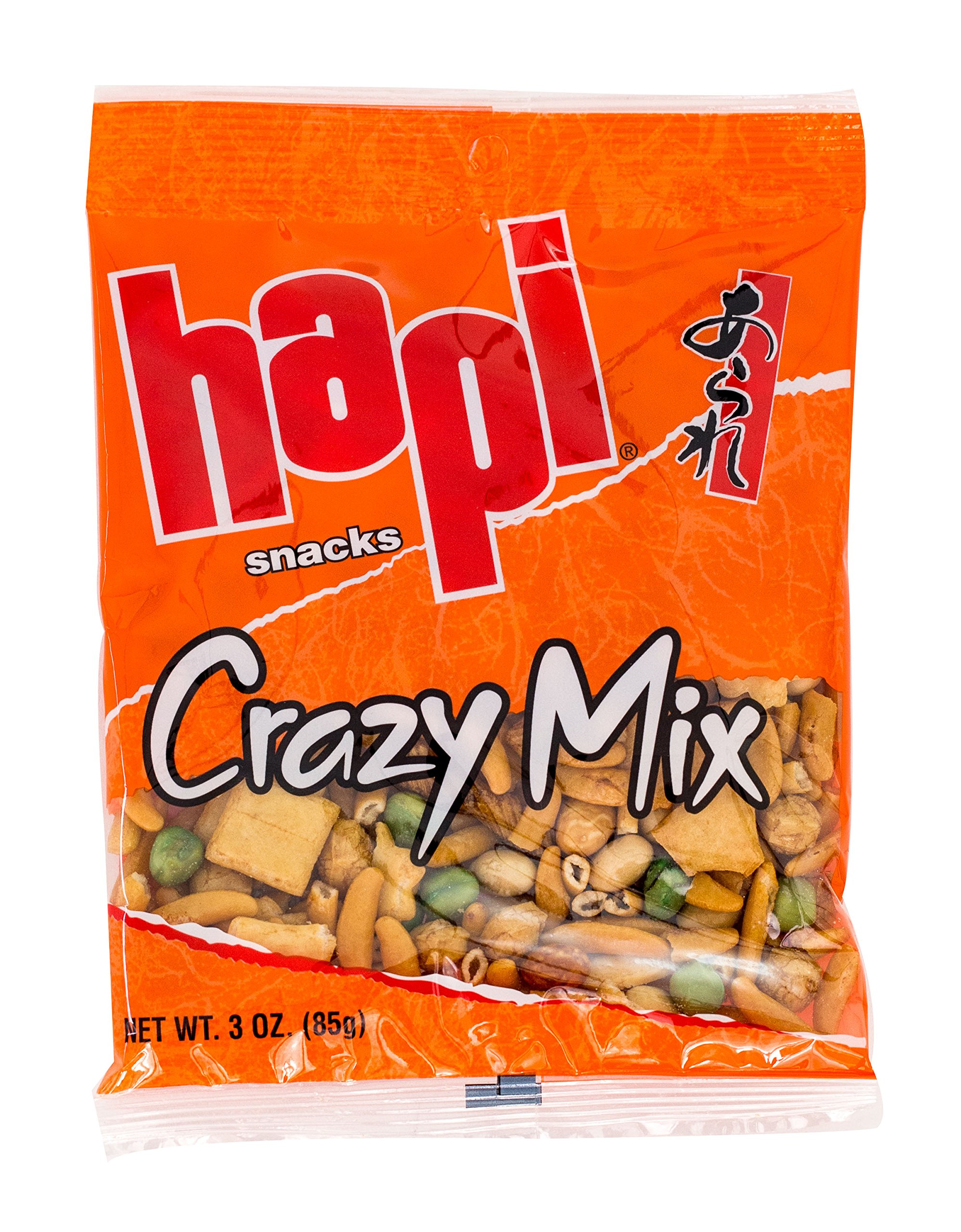 Hapi Crazy Mix Rice Crackers, 3-Ounce Bags (Pack of 12) by HAPI (Image #1)