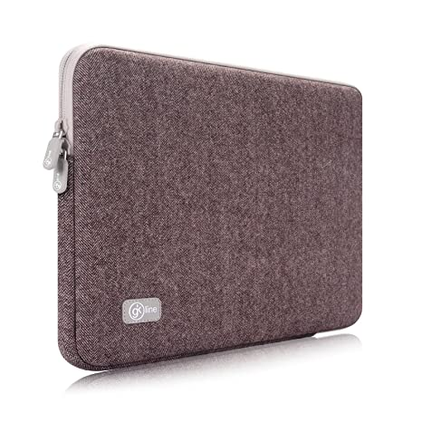 GK Line Funda Tweed universal para ordenador portátil Macbook NETBOOK Tablet Carcasa Funda Negro wasserresistent marrón
