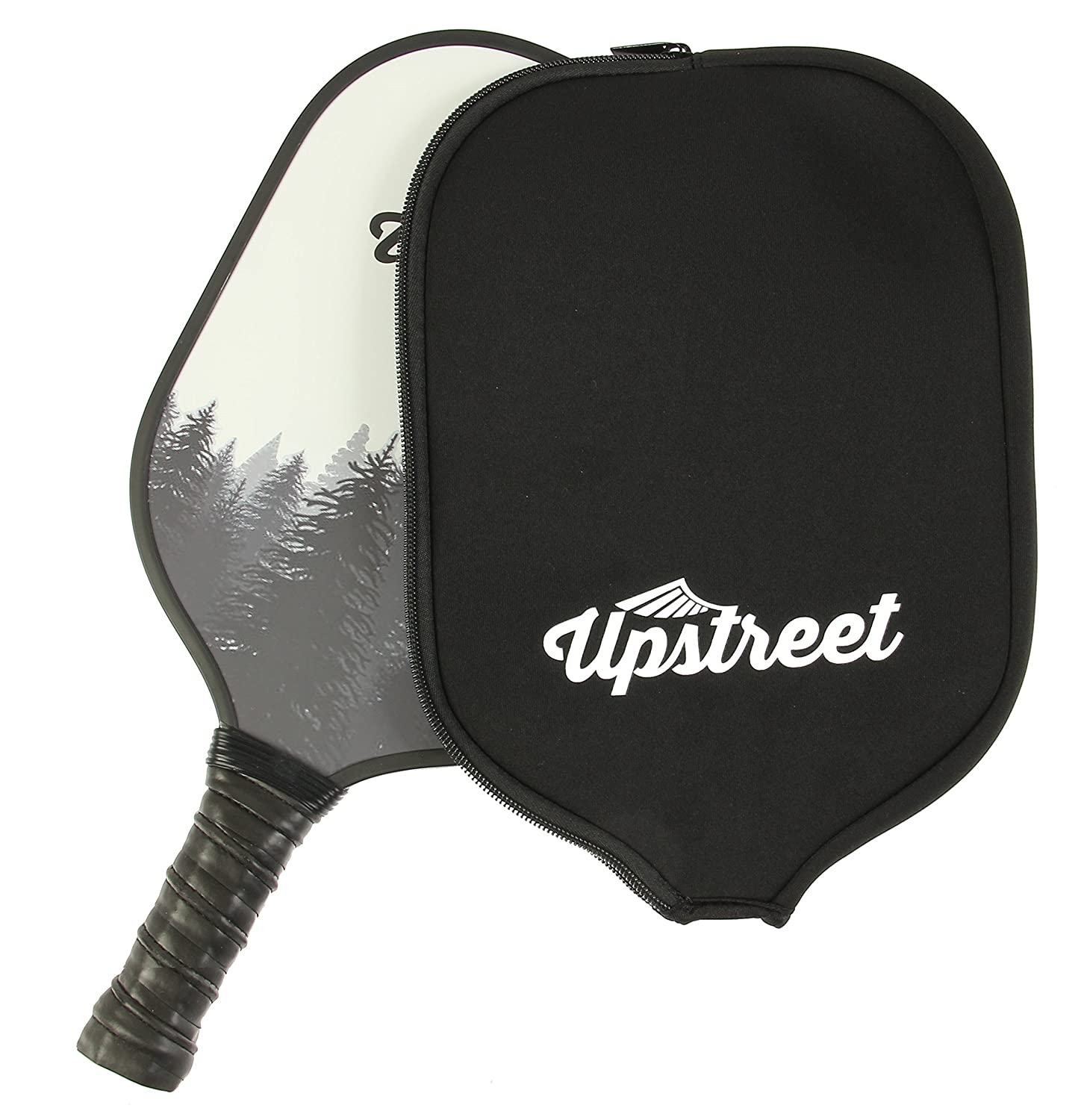 Graphite Pickleball Paddle by Upstreet (Forrest) | PP Honeycomb Composite Core | Neoprene Racket