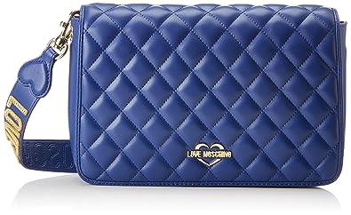 Moschino Borsa Quilted Nappa Pu Blu, Sacs portés épaule femme, (Blue), 6x19x28 cm (B x H T)