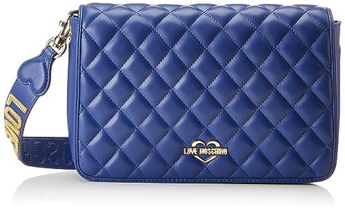 2fd115880b Love Moschino Borsa Quilted Nappa Pu Blu