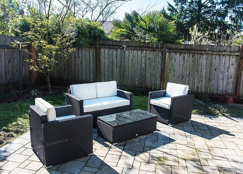 Amazon.com: Outsunny Muebles de jardín seccional ...