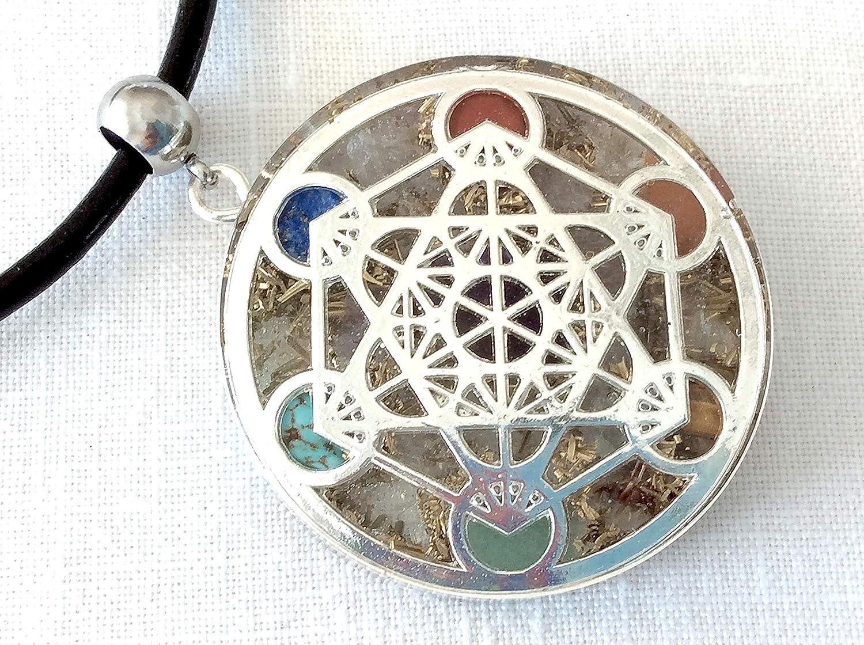 red pendant Shungite Orgone Jewel Red Chakra EMF protection,positive Energy Orgone cube pendant of Metatron Amulet.