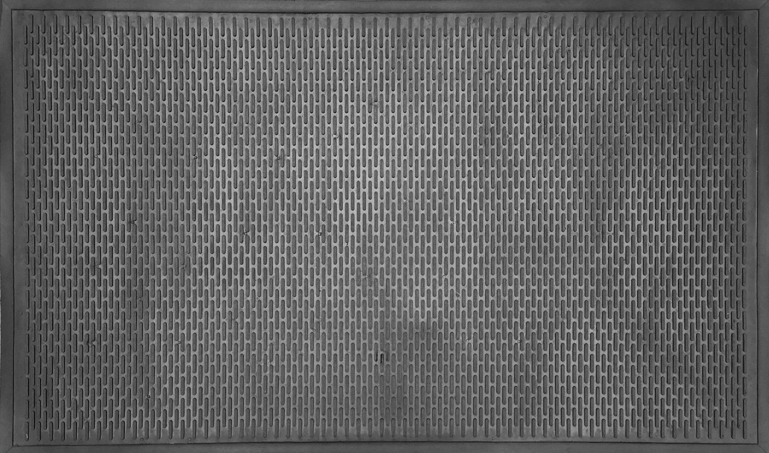 Imports Décor Rubber Doormat and Boot Scraper, Black, 35.5''x59''