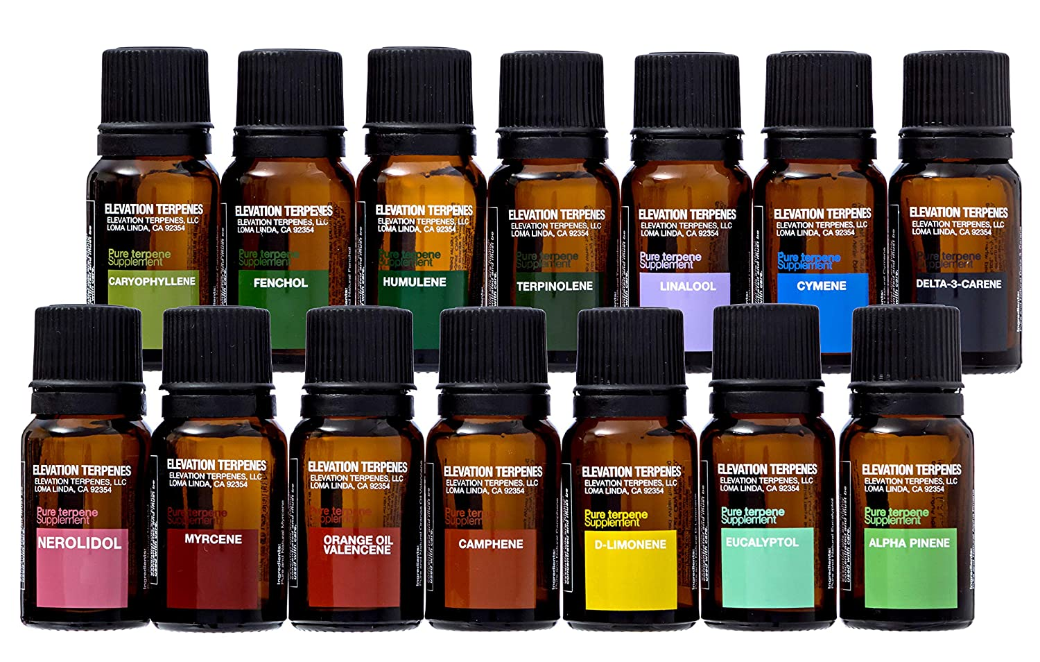 Elevation Terpenes Full-Spectrum Package, Made in the USA (All 14 Oils)