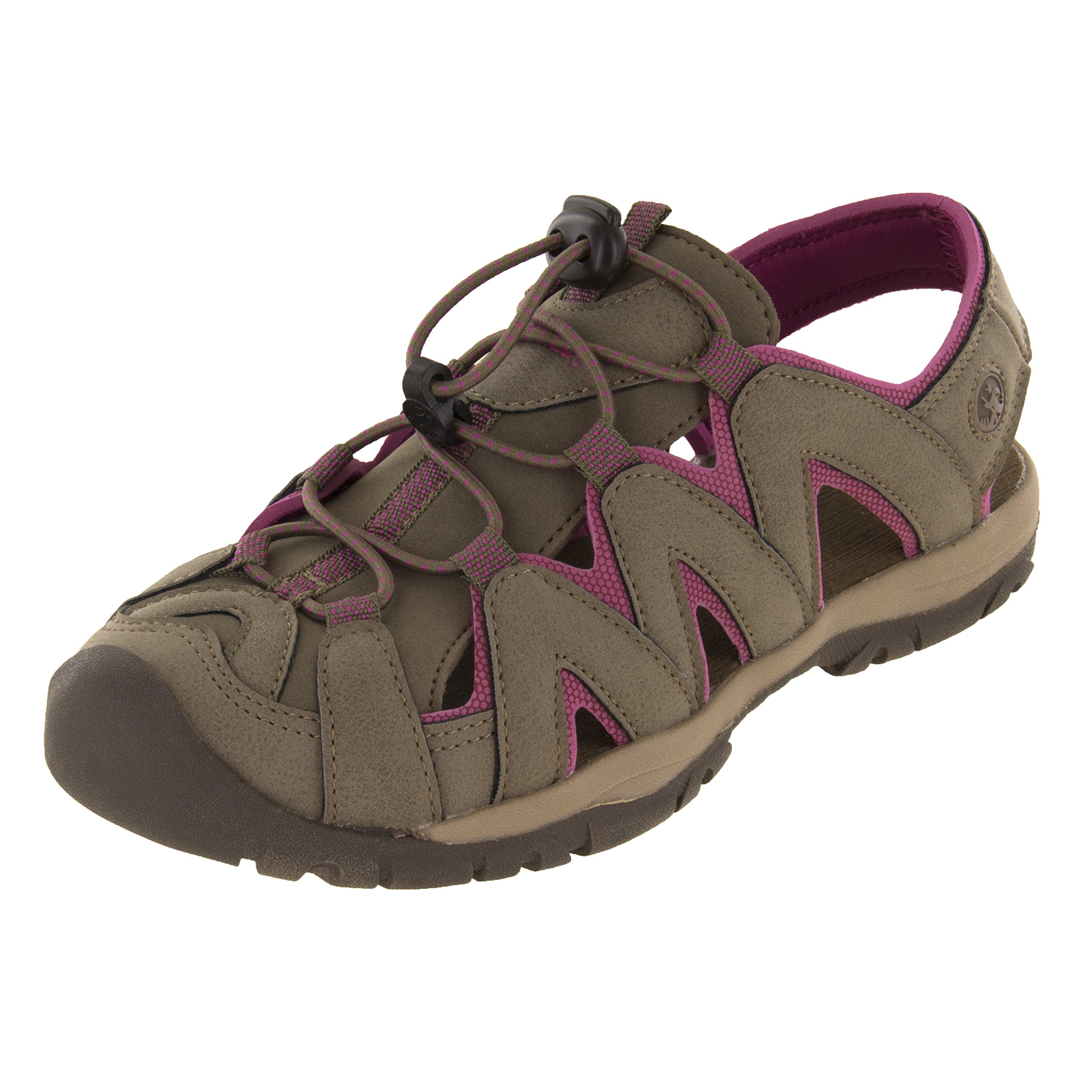 Northside Women's Corona Athletic Sandal, Stone/Berry, 6 B(M) US