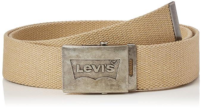 6854e9b9f1a2 Levi s Batwing Web Belt, Ceinture Homme, Beige (Sand), 110 (Taille ...