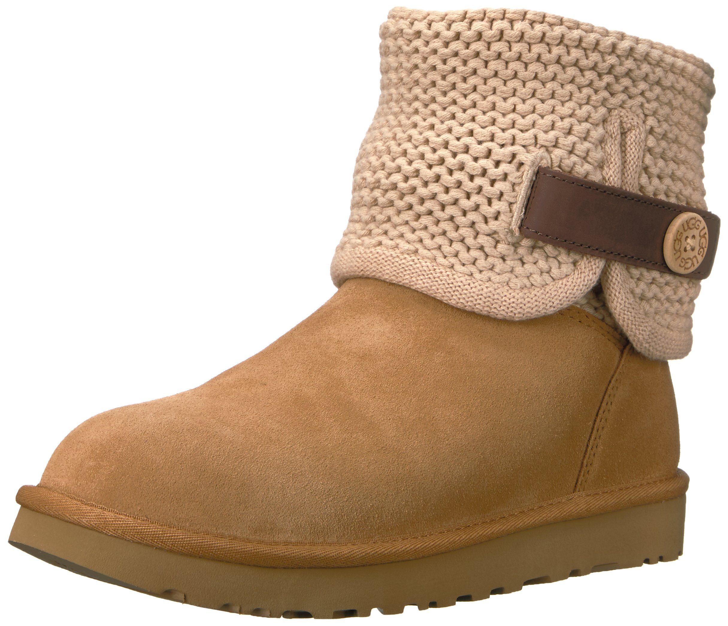 UGG Women's Shaina Slip On Slipper, Chestnut, 9 M US