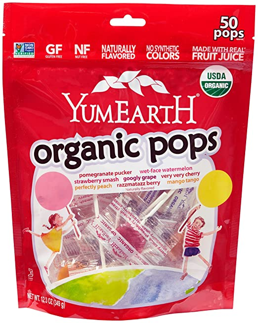 Yum Earth Organic Lollipops