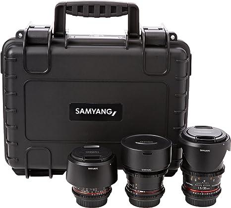 Samyang 2 14/35 / 85mm Kit VDSLR Lente para cámara Canon: Amazon ...