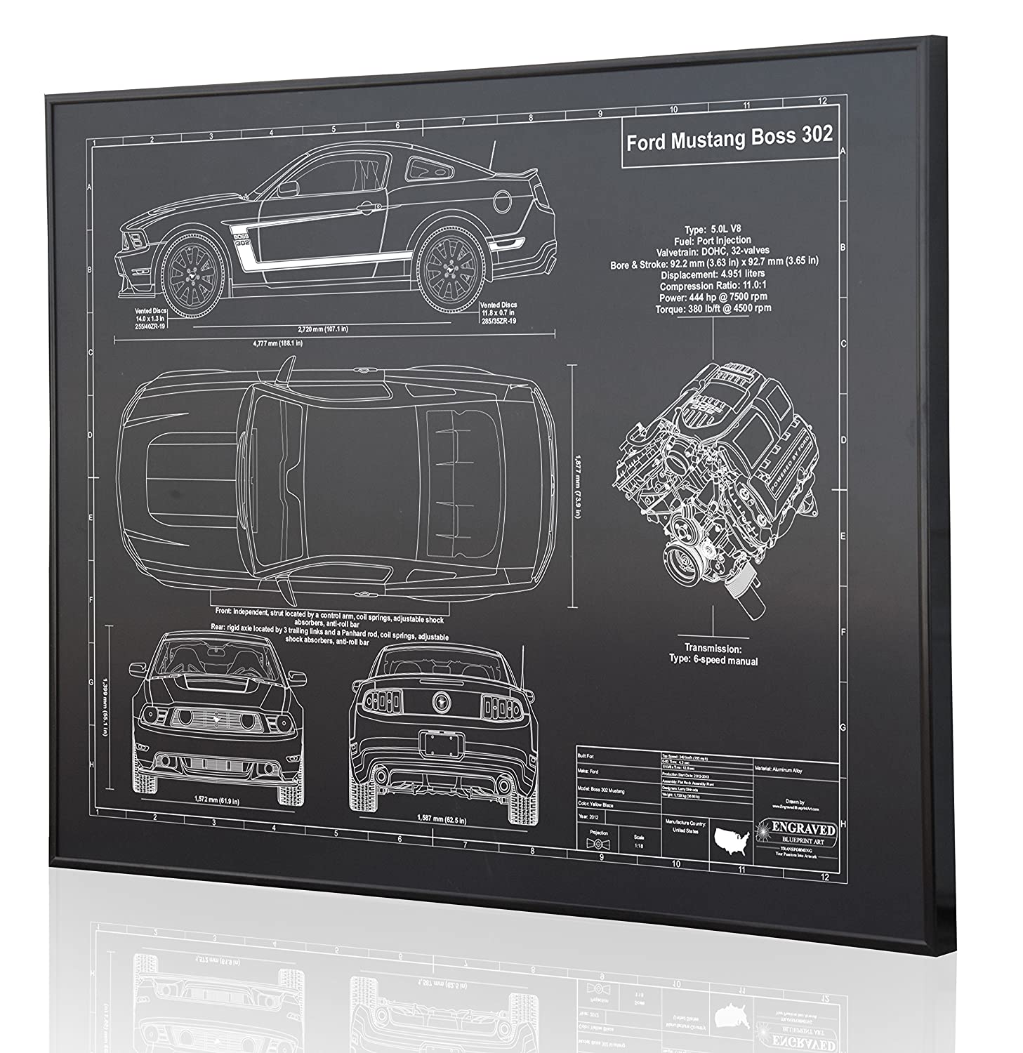 Blueprints Ford Mustang Engine Diagram Wiring Libraries Blueprint Libraryamazon Com Boss 302 2012 13