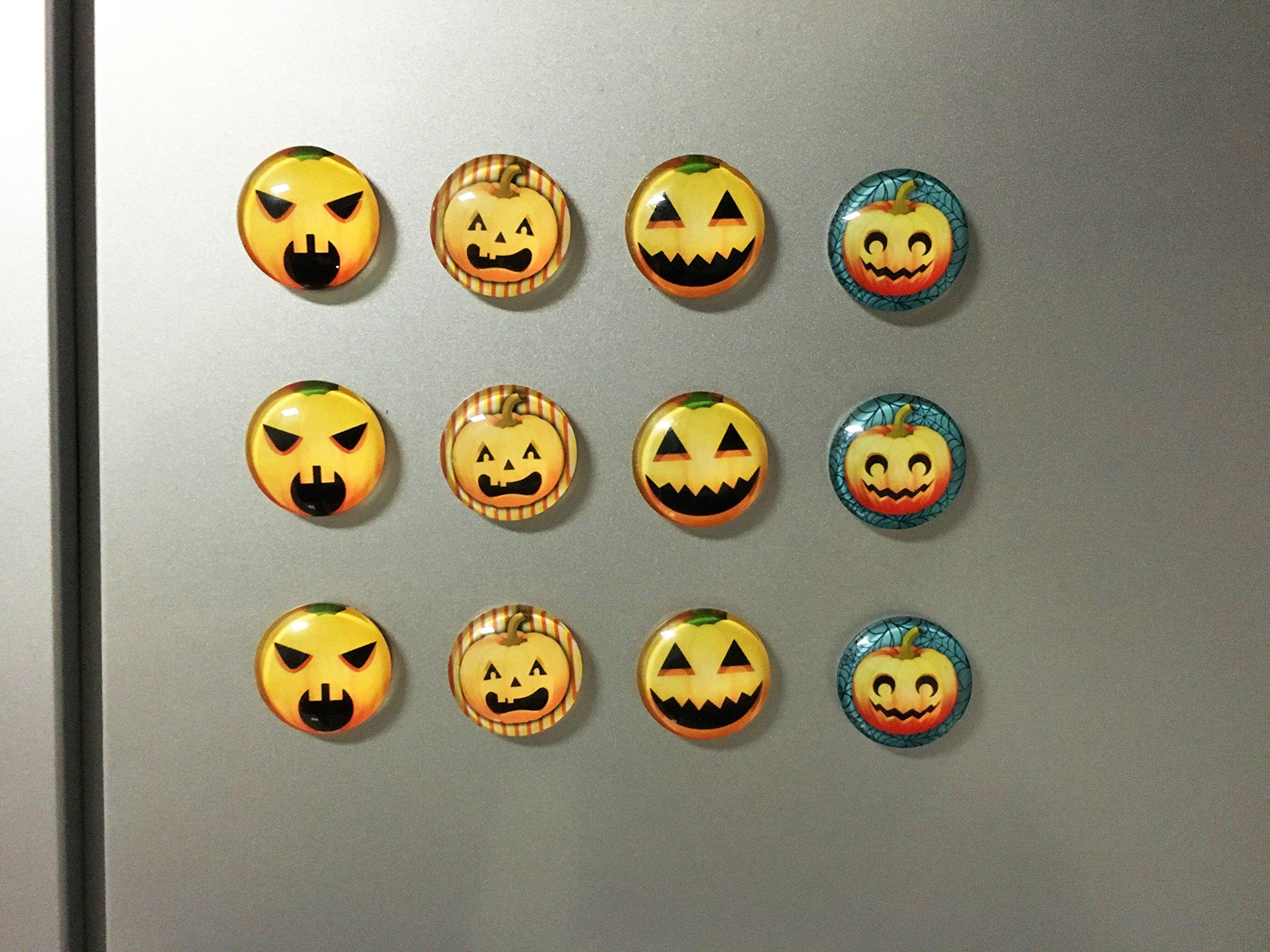 Pawliss Halloween Pumpkin Refrigerator Dishwasher Magnets 12 Pack