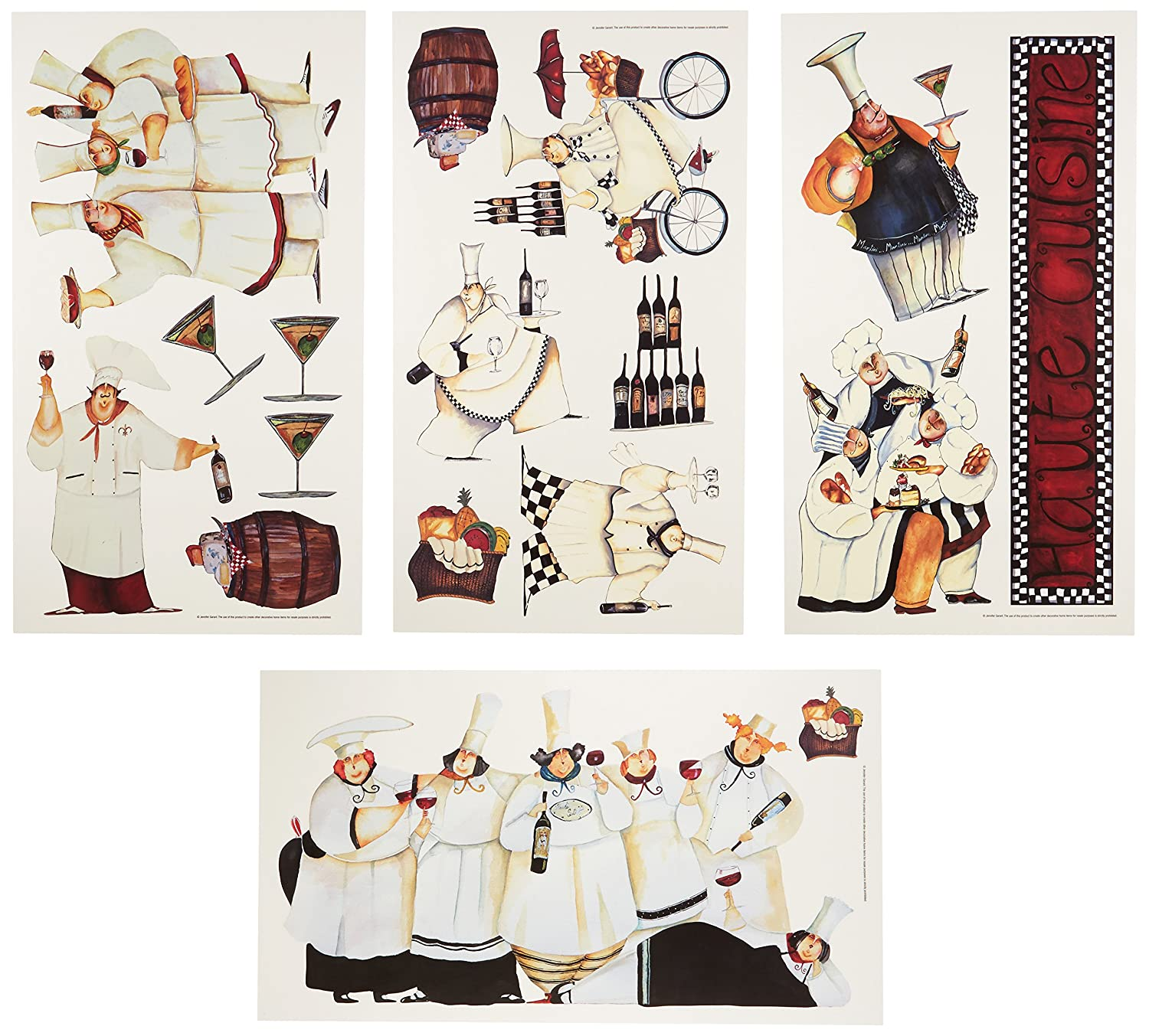 roommates rmk1255scs chefs peel stick wall decals