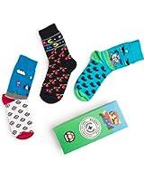 Karikatur-Socken NES 8-BIT komischer Buchstabe! Verrückte Unisexkleid-Socken 3 Paar-Satz!