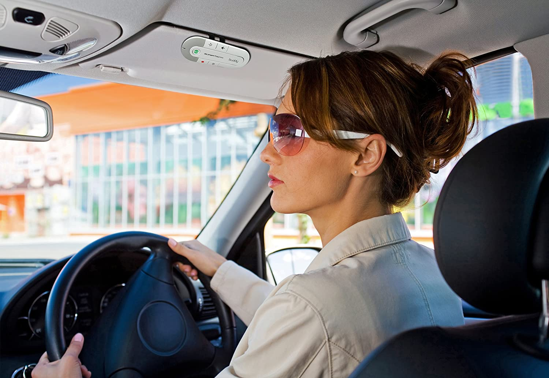 White SuperTooth Buddy Handsfree Bluetooth Visor Car Kit