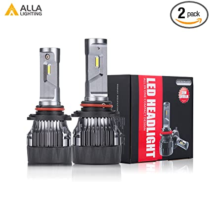 ALLA Lighting S-HCR Newest HB3 9005 LED Headlight Bulbs 10000Lms Extreme Super Bright LED