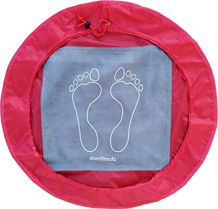 Tappeto poggiapiedi poggia piedi sacca  indumenti umidi richiudibile palestra