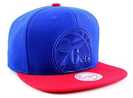 463ce5f4749 Image Unavailable. Image not available for. Color  Mitchell   Ness Philadelphia  76ers NBA 2Tone Cropped Tonal Logo Adjustable Snapback Hat