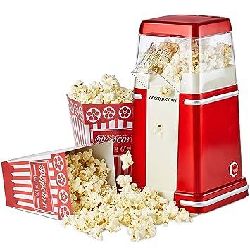 784a7cc394403 Andrew James Machine à Popcorn Retro à Air Chaud pour les Pop corn sans  Graisse et