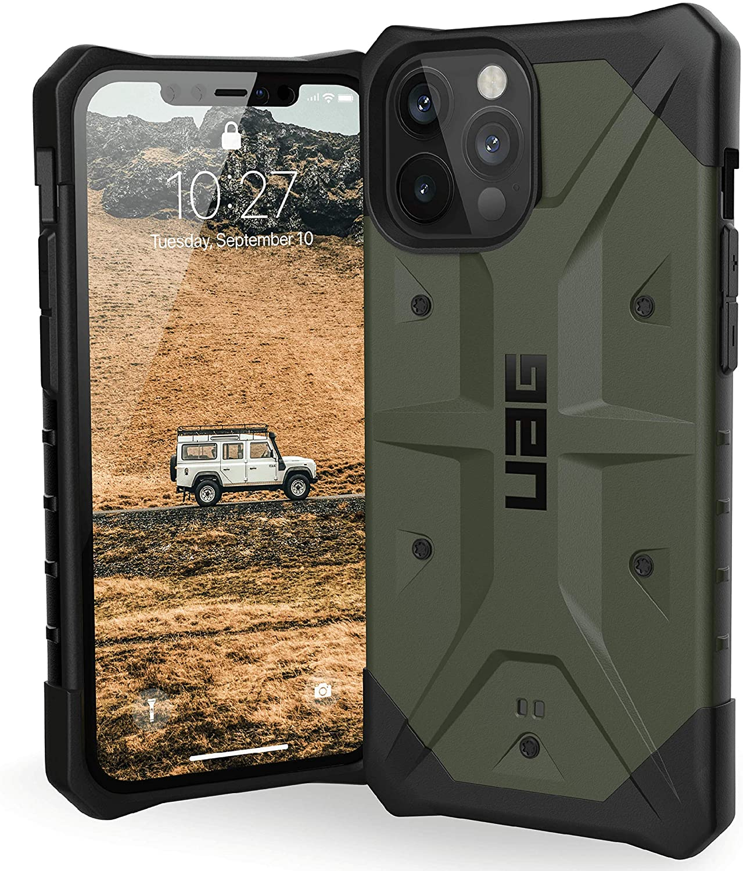 Urban Armor Gear Pathfinder Hülle Apple Iphone 12 Pro Max 6 7 Zoll Schutzhülle Wireless Charging Kompatibel Fallschutz Nach Militärstandard Sturzfest Ultra Slim Bumper Olive Elektronik