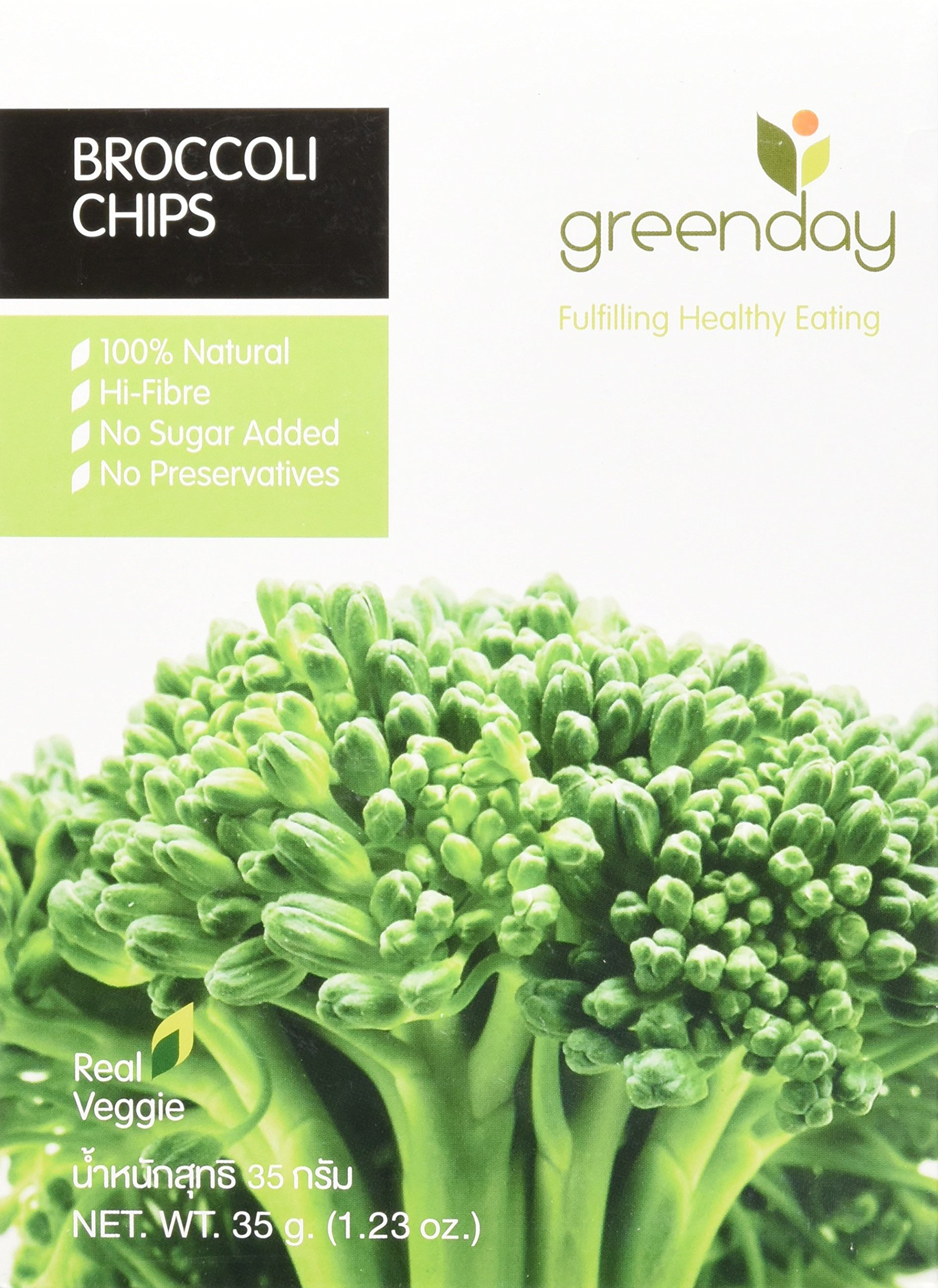 Green Day Thai Snack Broccoli Chips, Real Vegetable, 35 Gram by Green Day