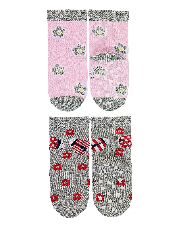Sterntaler Chaussettes Antid/ãrapantes DP Fleurs+coccinelle Calcetines casual para Beb/és