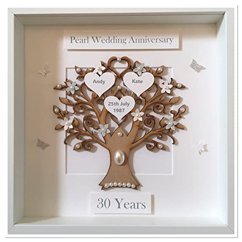 Personalised 30 Years 30th Pearl Wedding Anniversary Family Tree