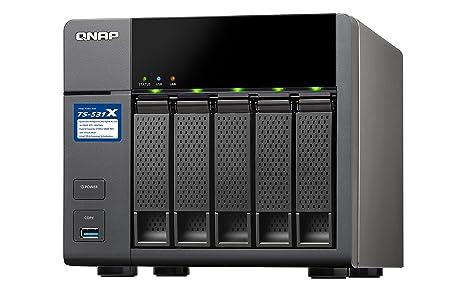 QNAP 531 X -8G NAS 5bay QuadCore 1 4 GHz 8 GB DDR3 SODIMM RAM (Max 16 GB)  SATA 6 GB/s 2 x 10gbe SFP + LAN 2 x GbE LAN USB3 0
