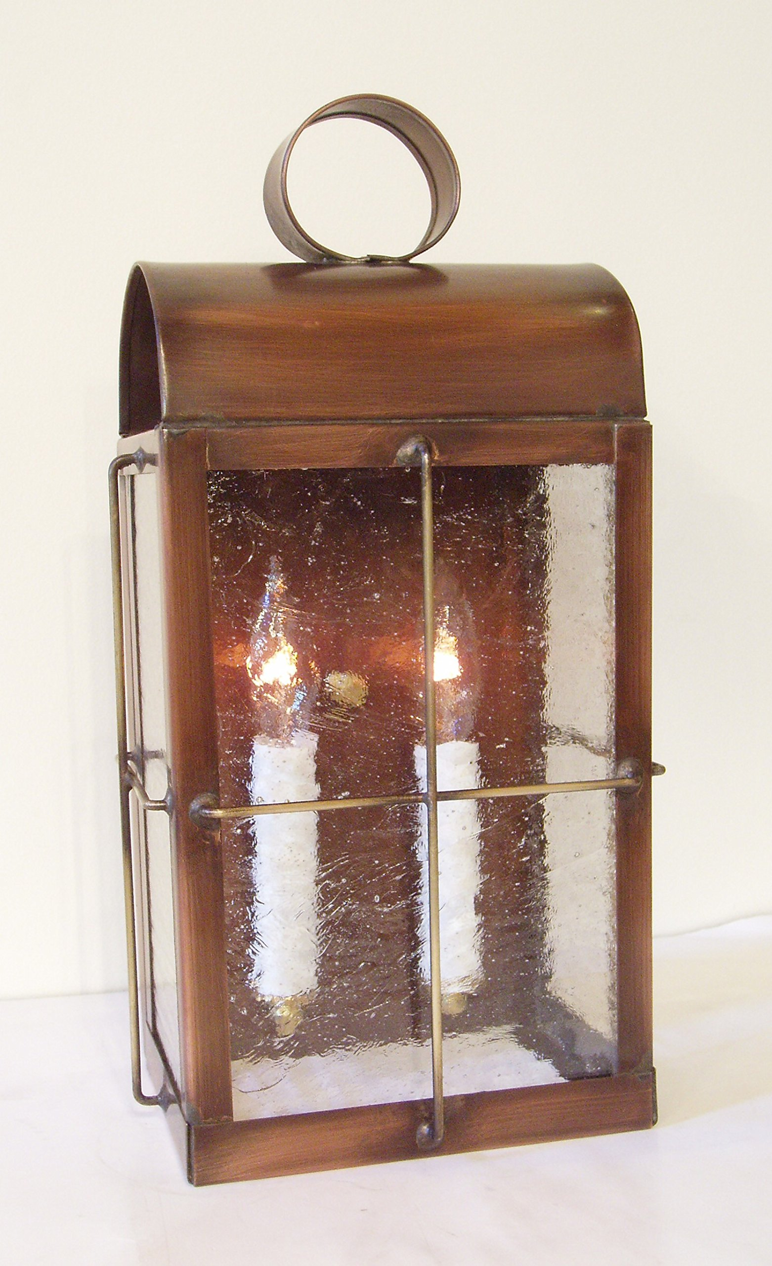 Solid Copper wall Lantern Sconce, made in USA. ''Skipper'' by Hutton Metalcrafts, Inc.
