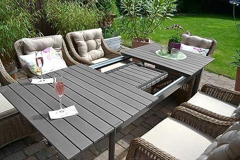 Great Gartenmöbel Set Como 6 U0026quot;Natur Braunu0026quot; Tisch Ausziehbar Holzdekor  Mit 6 Awesome Ideas