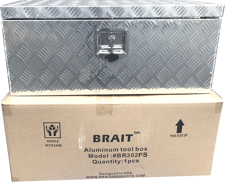 Small Truck Tool Box >> Brait Br30f Aluminum Tool Box For Atv Storage Truck Pickup Rv Silver
