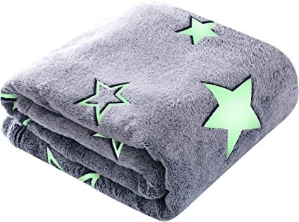 Wohndecke Denver Stars green grün weiß Kuscheldecke Sterne flauschig weich warm