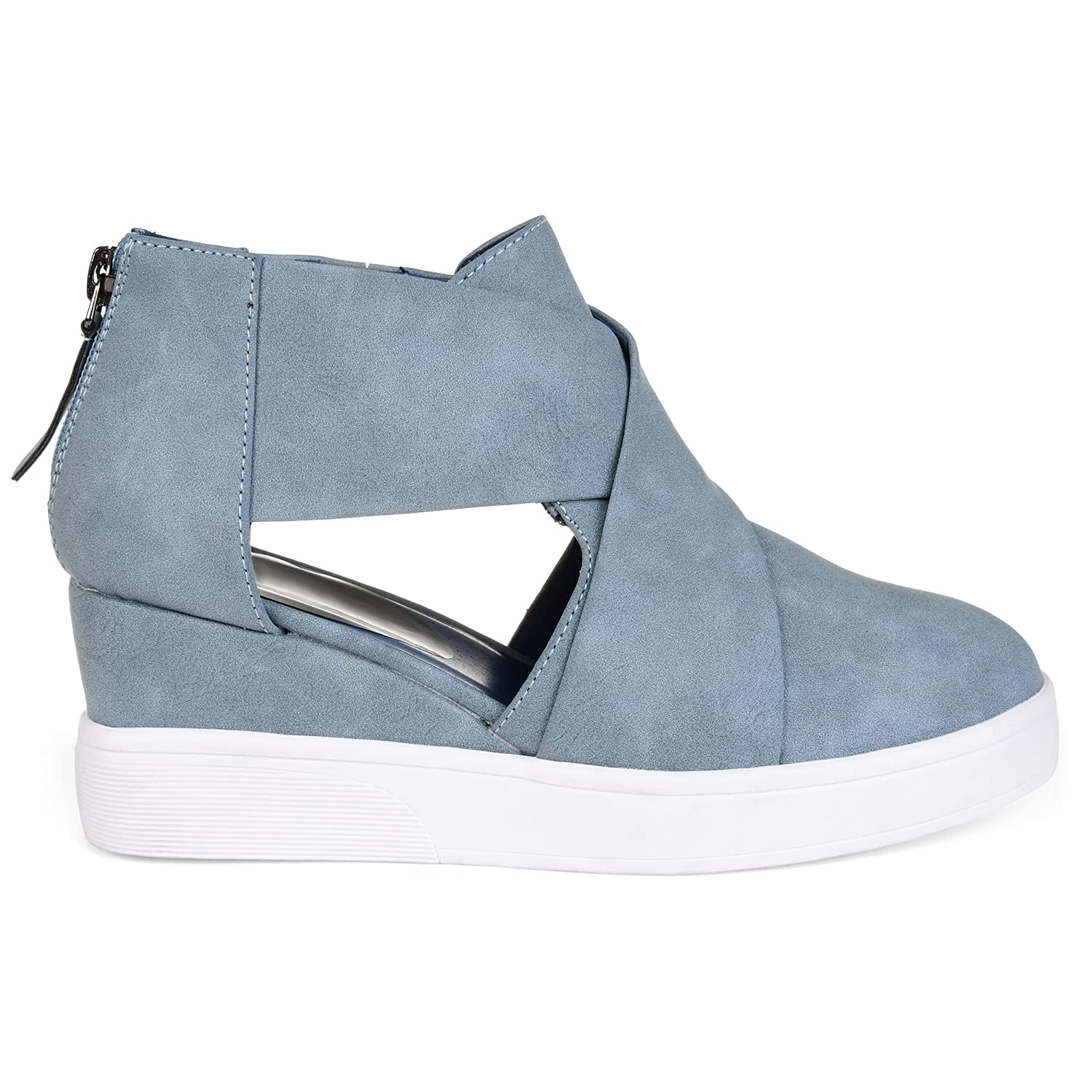c18780ed277ce Brinley Co. Womens SEB Athleisure D'Orsay Criss-Cross Sneaker Wedges