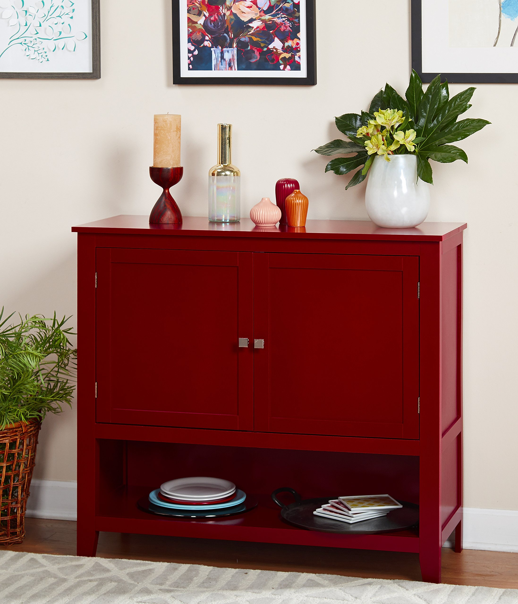 Target Marketing Systems 11001RED Montego Collection Buffet Cabinet, Red by Target Marketing Systems (Image #2)