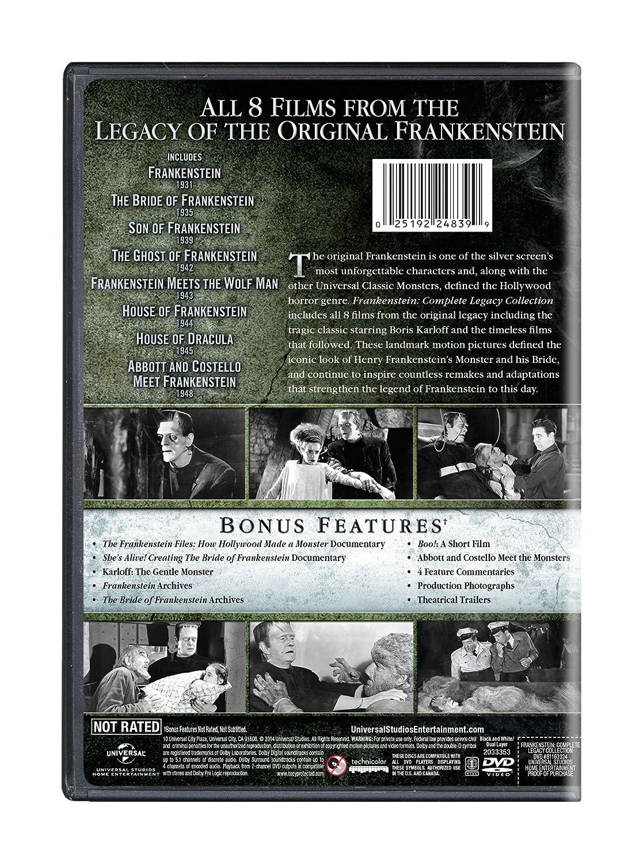 10e744d1a814 Amazon.com  Frankenstein  Complete Legacy Collection  Boris Karloff ...