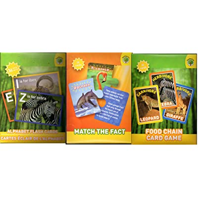 Set of 3 National Geographic Flash Cards: Toys & Games
