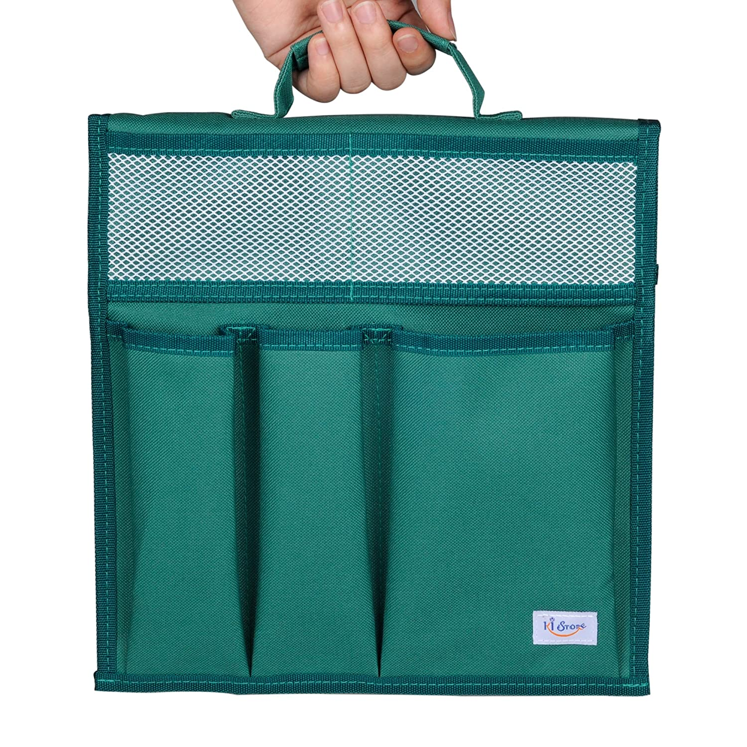 KI Store Garden Kneeler Tool Pouch Bag with Handle for Gardening and Household Organizer (Forest Green)