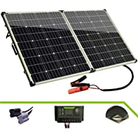 Otfrid Solar Mono Portable Foldable 12V Solar Panel for Camping. Solar Suitcase with Charger Controller.