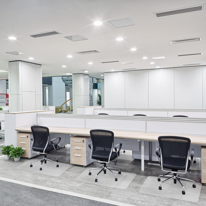 OfficeMarshal Alfombrilla Protectora Varios tama/ños Polipropileno 75x120 cm Estera para Silla de Oficina Protector Suelo Semi-Transparente