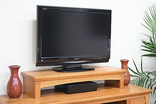 U DECOR IT TV Riser Stand Oak Shaker Style with Medium Finish Medium, 38 Wide