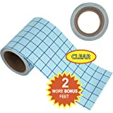 "Angel Crafts 6"" by 50' PREMIUM CLEAR Transfer Paper Tape Roll with Grid - PERFECT ALIGNMENT of Cricut or Cameo Self Adhesive Vinyl for Walls, Signs, Decals, Windows, and More"
