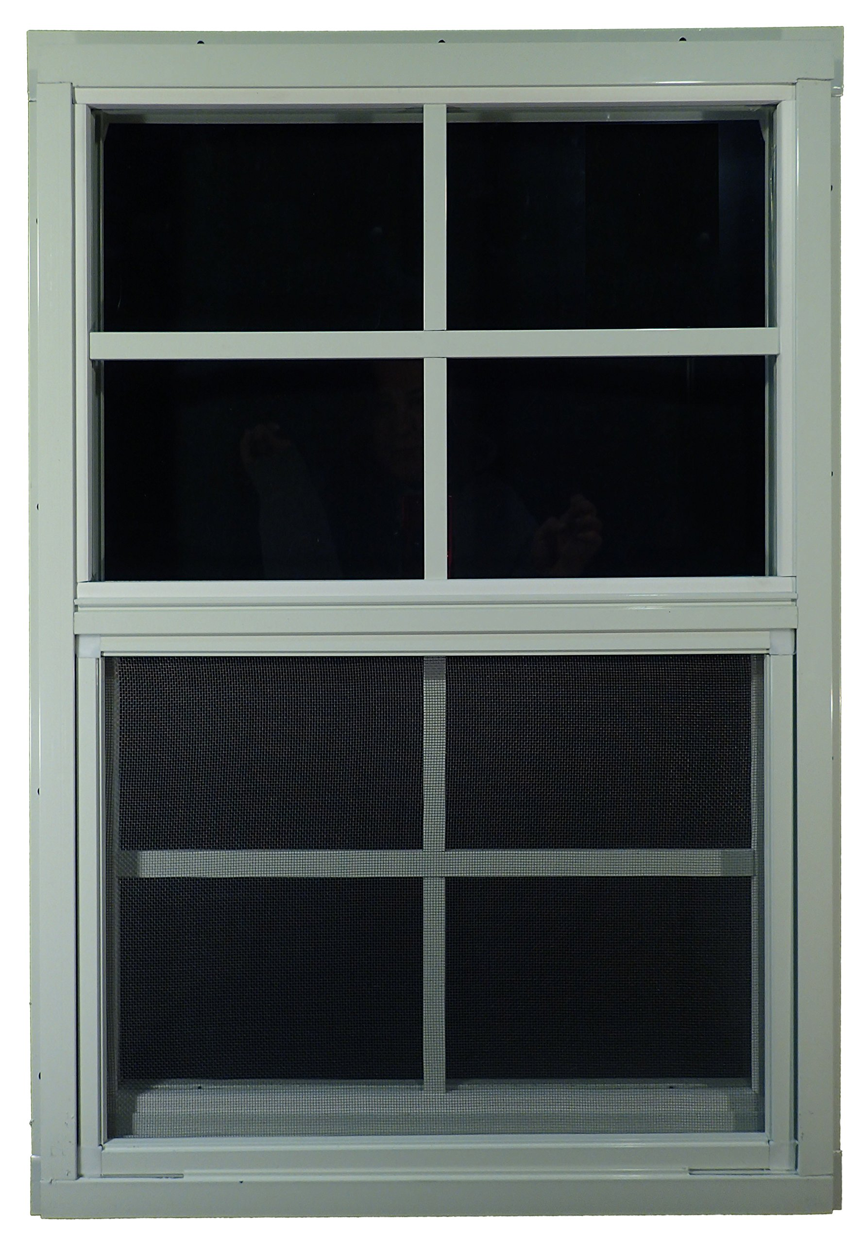 Shed Windows 18'' W x 27'' H - J-Lap - Playhouse Windows (White) by Outdoor Play and Storage