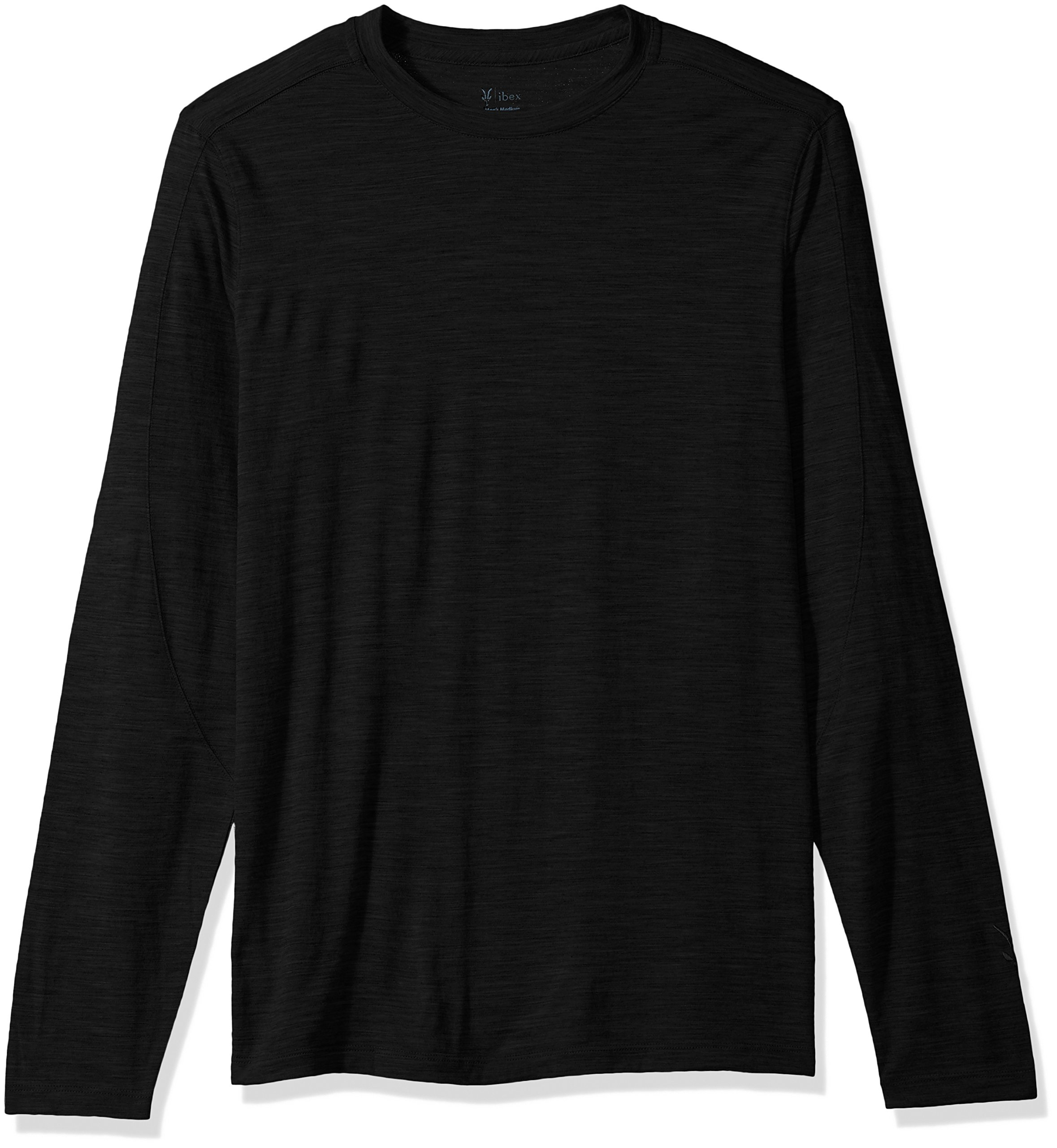 Ibex Outdoor Clothing Merino Wool Odyssey Crew T-Shirt, Black, Large by Ibex