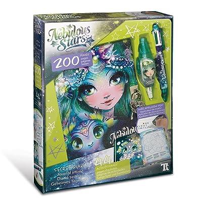 NEBULOUS STARS Marinia's Secret Diary, Motif Applicator Pen & Ball Pen & Lock Included, Multicolor: Toys & Games