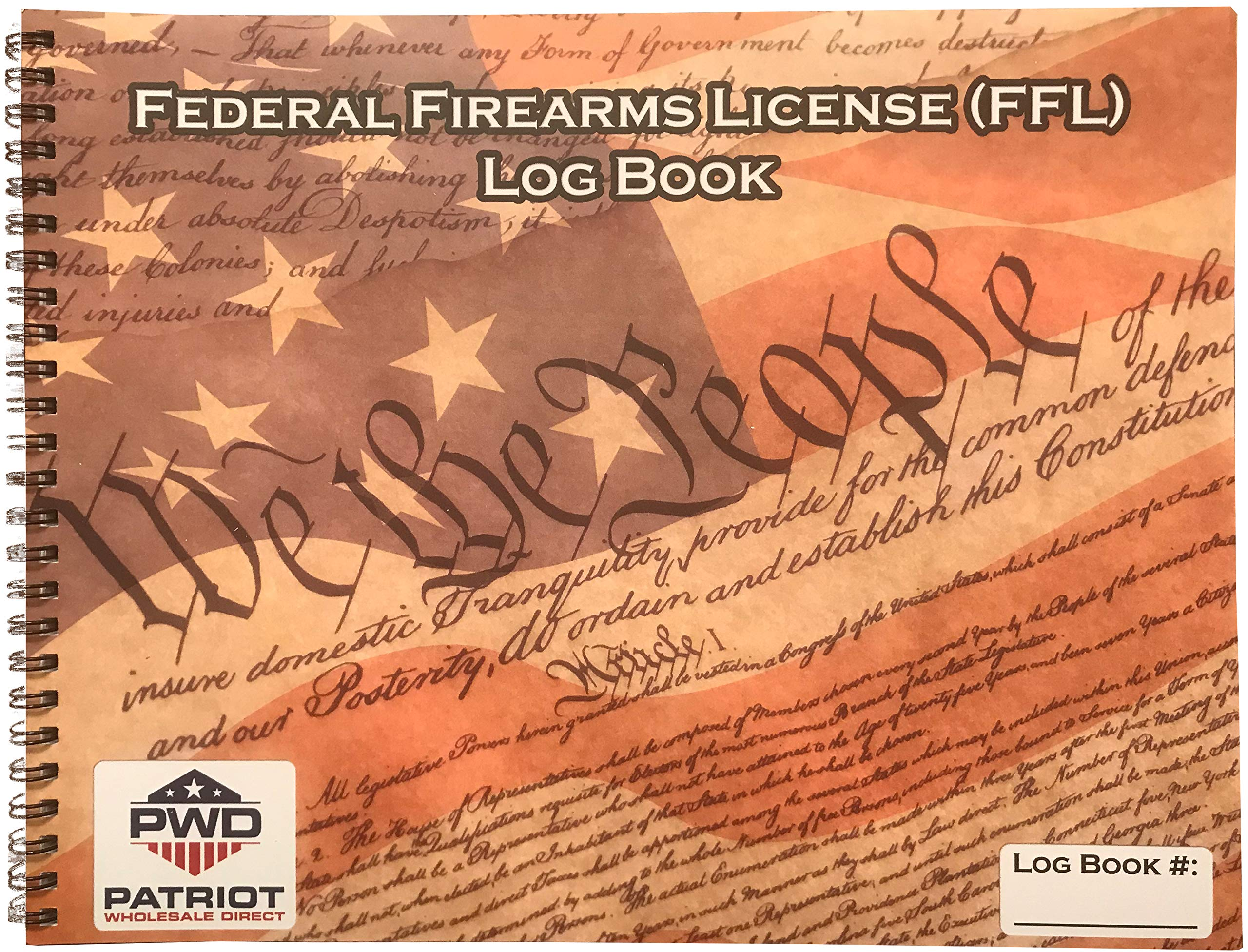 Bound FFL Firearms Record Book - 11x8.5 Wire-O Book with 1012 Entries