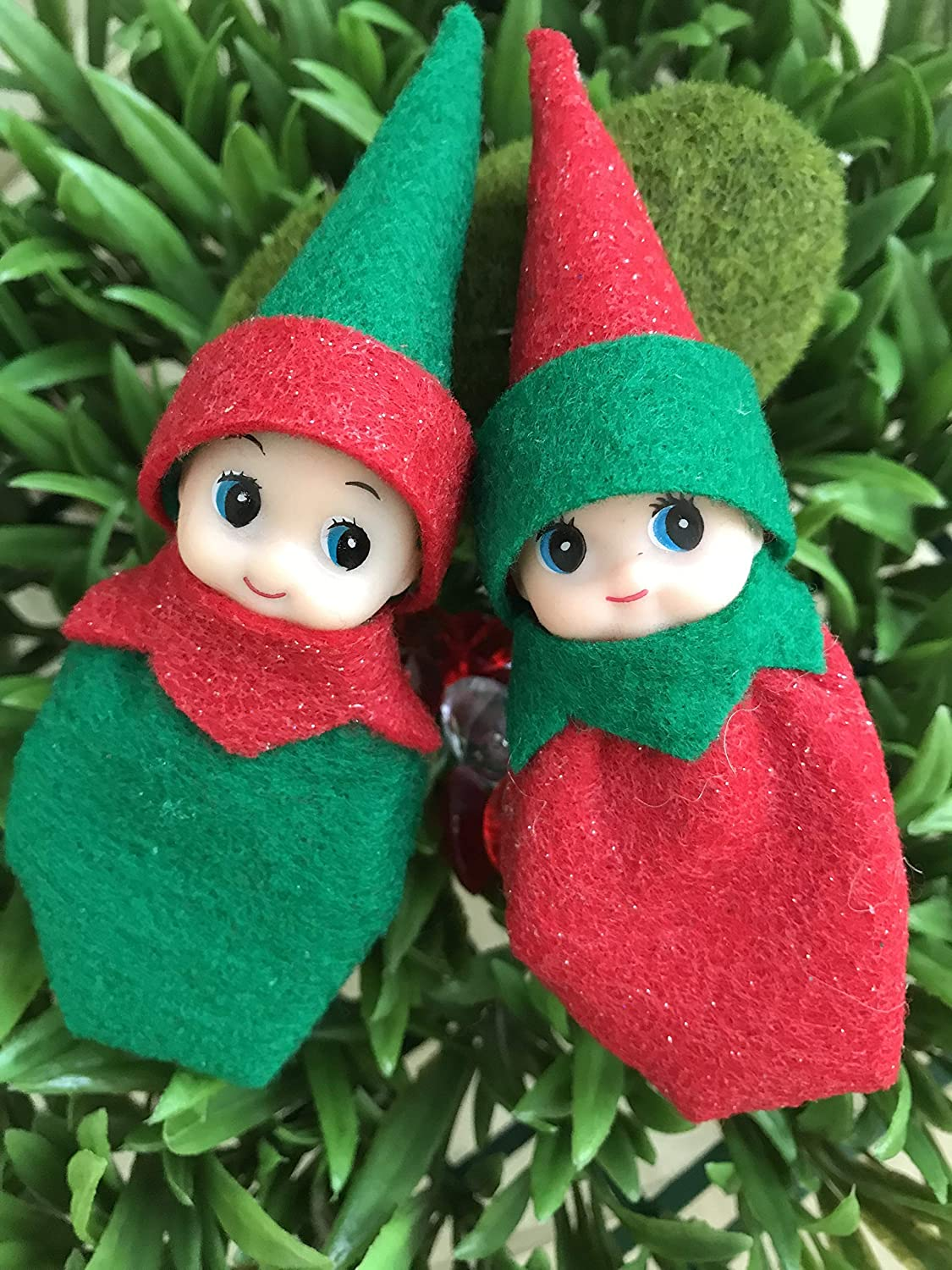 Baby Elf on the look for a family, Baby Elf doll twins Jingle and Belle