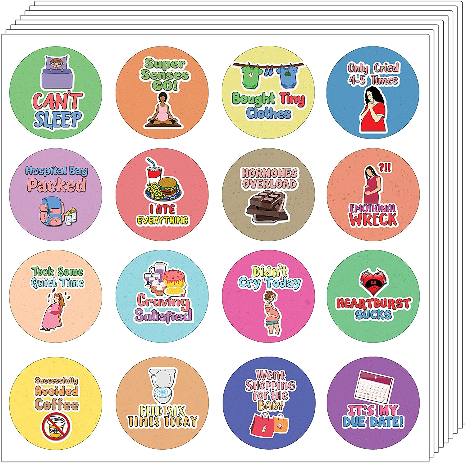 Unique Personalized Themes Designs Total 120 pcs 10-Sheet Inches Any Flat Surface DIY Decoration Art Decal for Boys /& Girls Individual Small Size 2.1 x 2 Creanoso Funny Stickers Series 1 Sarcasm Children 10 X 12pcs Teens Waterproof