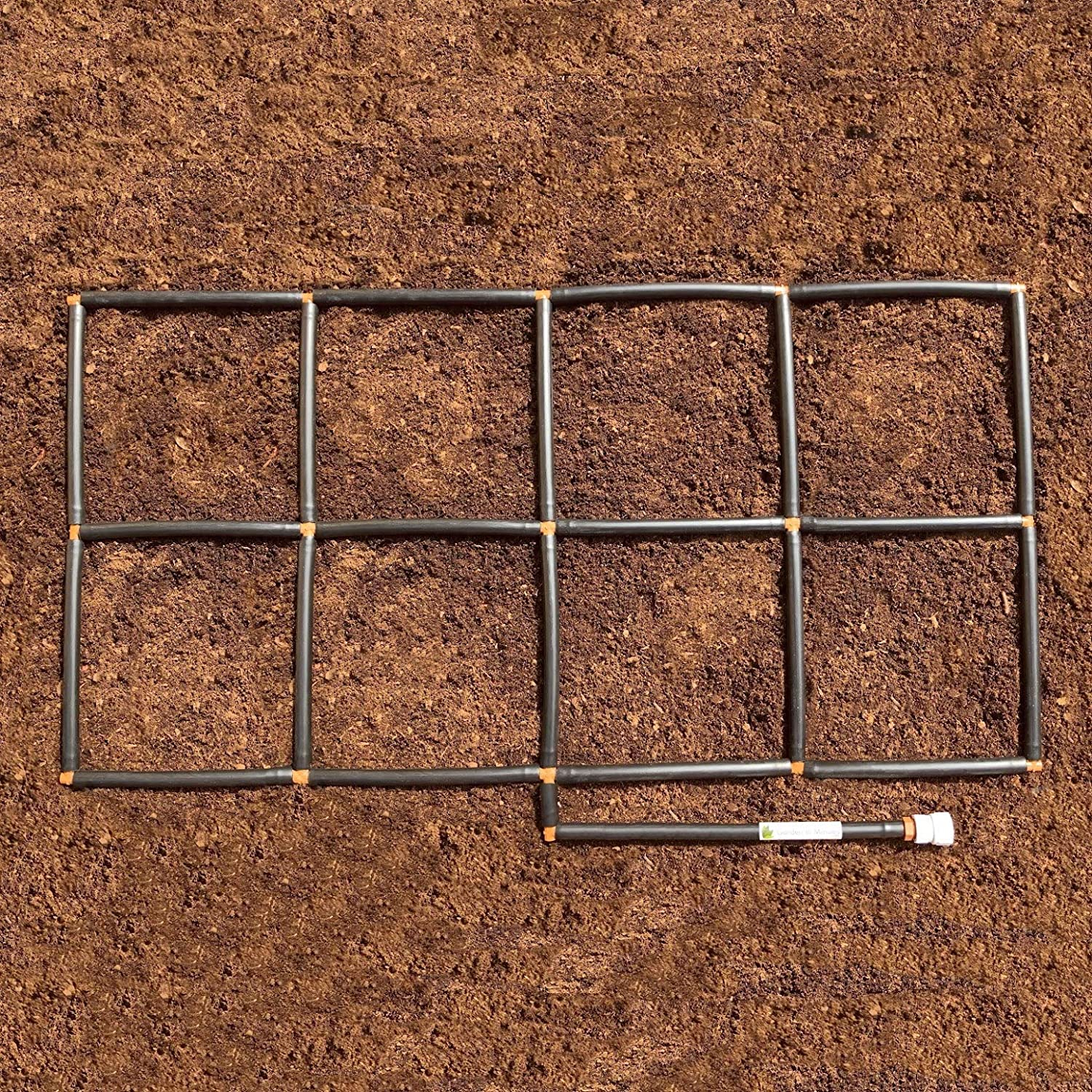 Preassembled Drip Irrigation Planters or Ground Level 2x2 Garden In Minutes Garden Grid Watering System Square Foot Gardens in one Soaker Hose /& Sprayer Style kit 22.5x22.5 Raised Beds