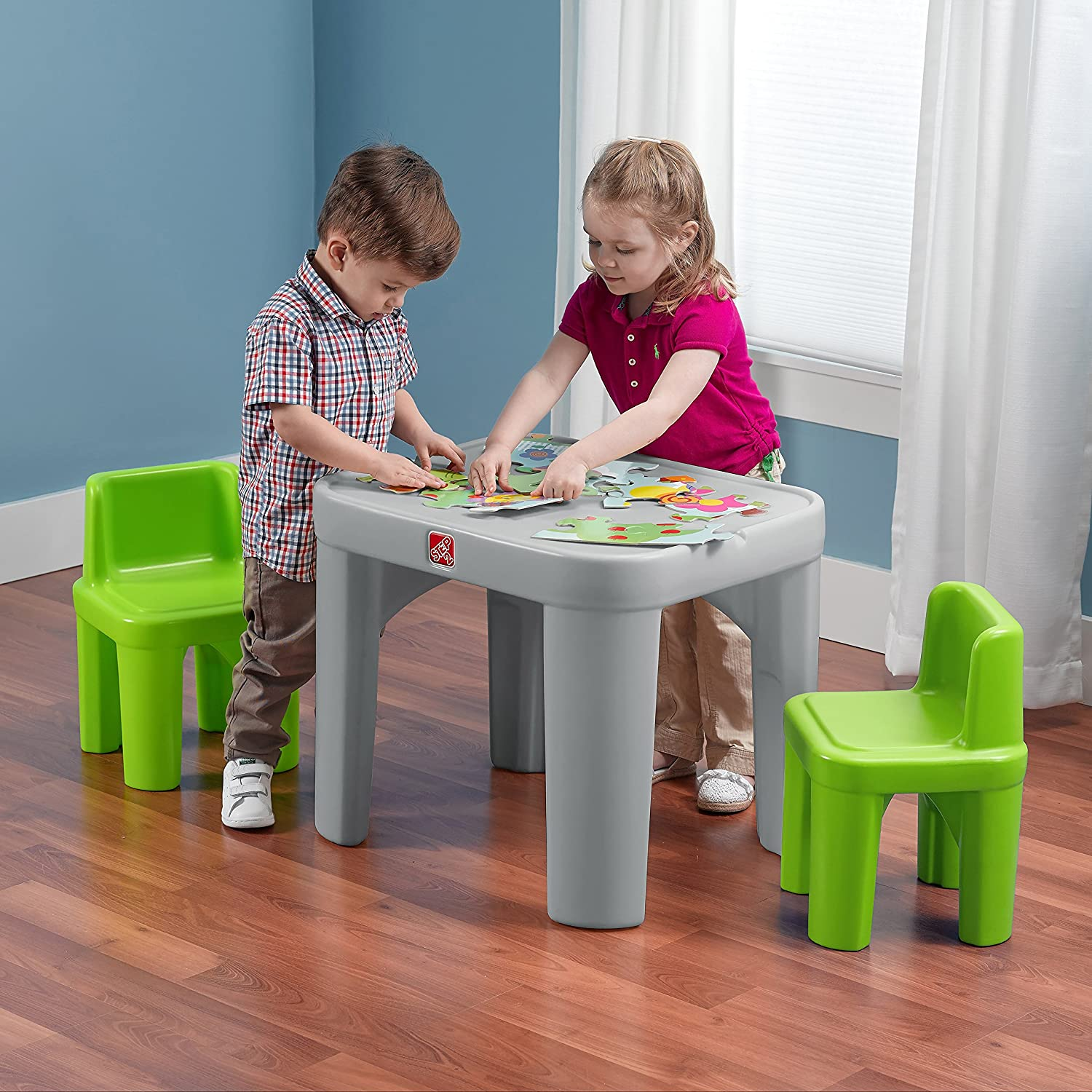 Amazon.com: Step2 Mighty My Size Table and Chairs Set: Toys & Games